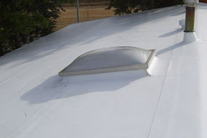 Single-Ply Membrane Roof Snow Retention