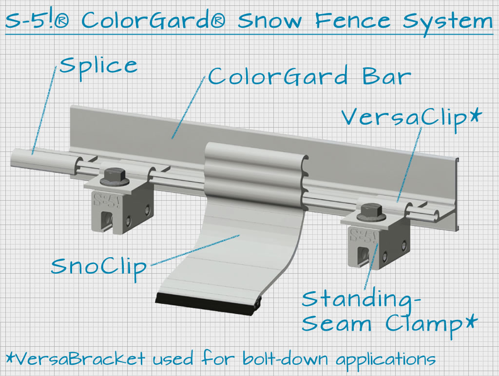 S 5 174 Colorgard 174 Snow Fence System Rocky Mountain Snow